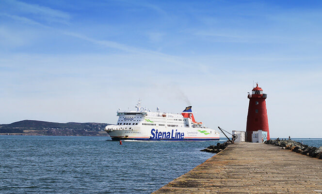 Stena Ferry heading into Dublin Port