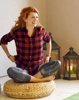 Adopt a Dubliner - At a yoga class. Yoga/yocella teacher, Kitty Maguire.