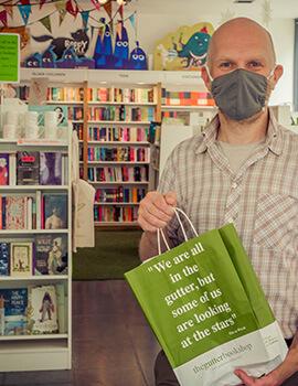 Bob Johnston, owner of the Gutter Bookshop