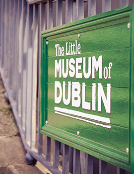 Entrance sign at the Little Museum of Dublin