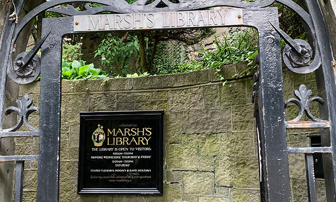 The entrance to Marsh's Library