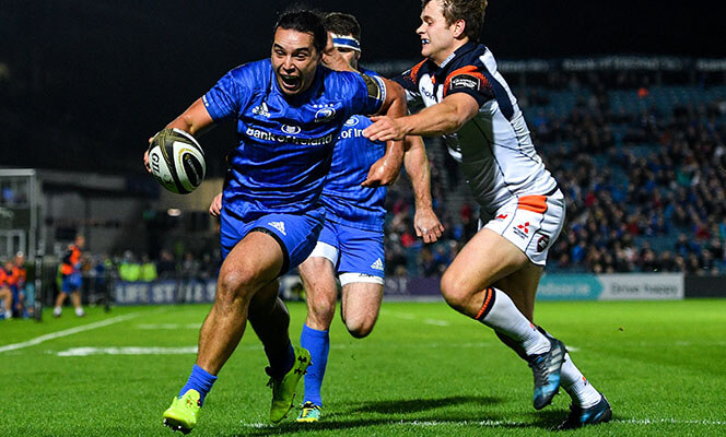 Leinster Rugby scoring a try at the RDS arena