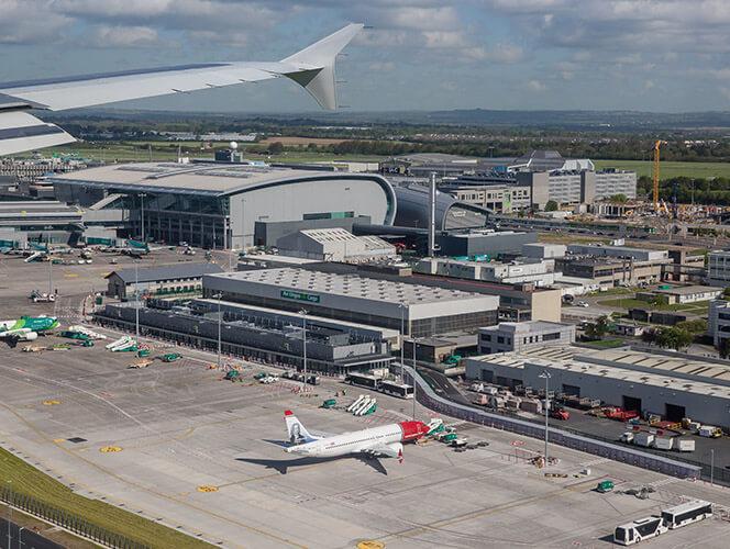 Landing in Dublin Airport