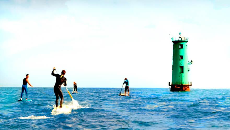 Bull Island & the Dublin Bay Biosphere. Image: Paddle boarders.