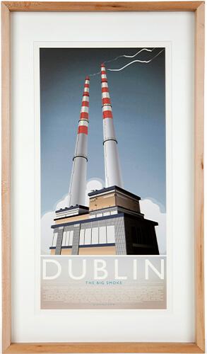 Poolbeg Towers print.