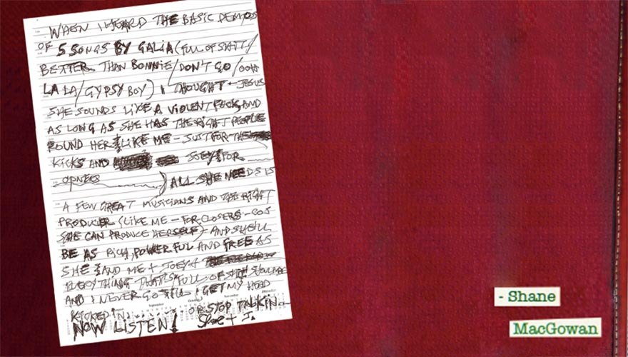 Liner notes written by Shane McGowan.