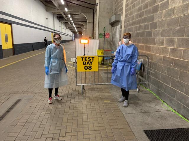 Fiona & Amy, Test Team Croke Park