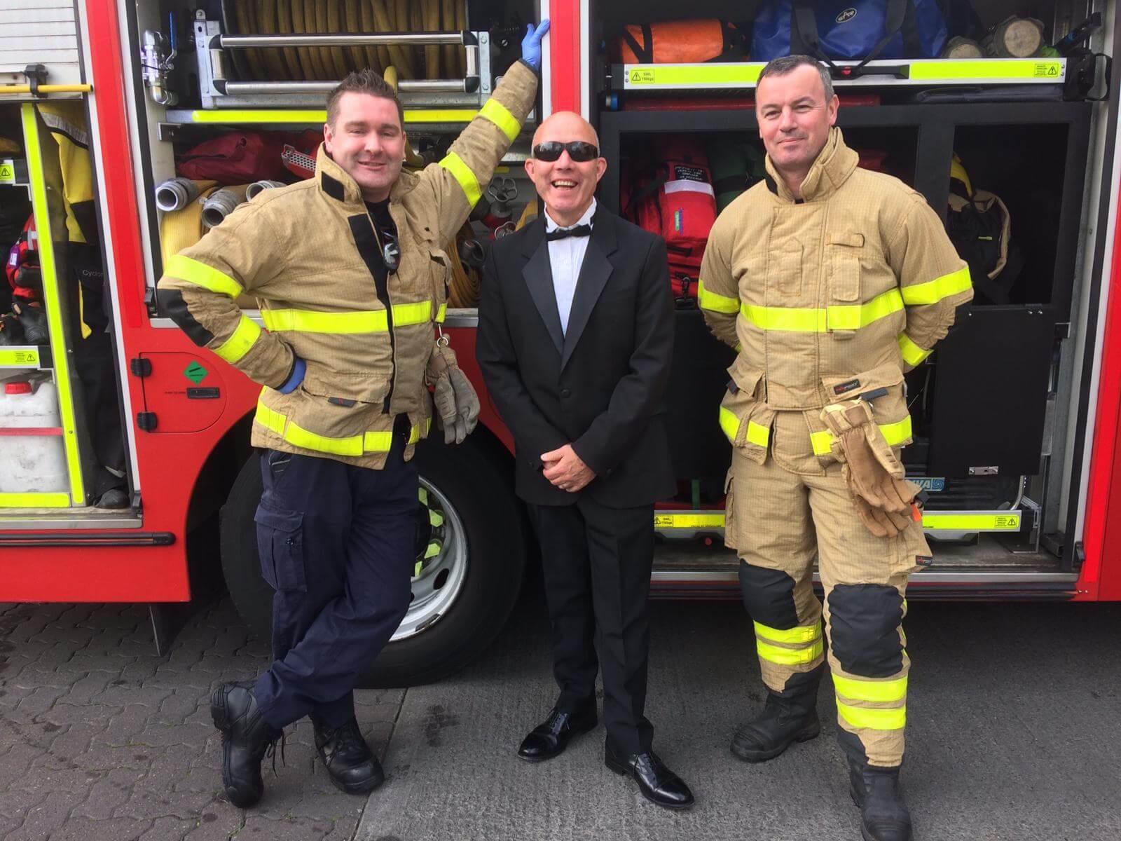 Neill, Ken and Derek, Dublin Fire Brigade