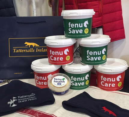 Fenu Health - A thriving, multi-award winning equine health business with a worldwide customer base founded by the Madden sisters at Loreto College, Dublin. Image: Fenu Health products.