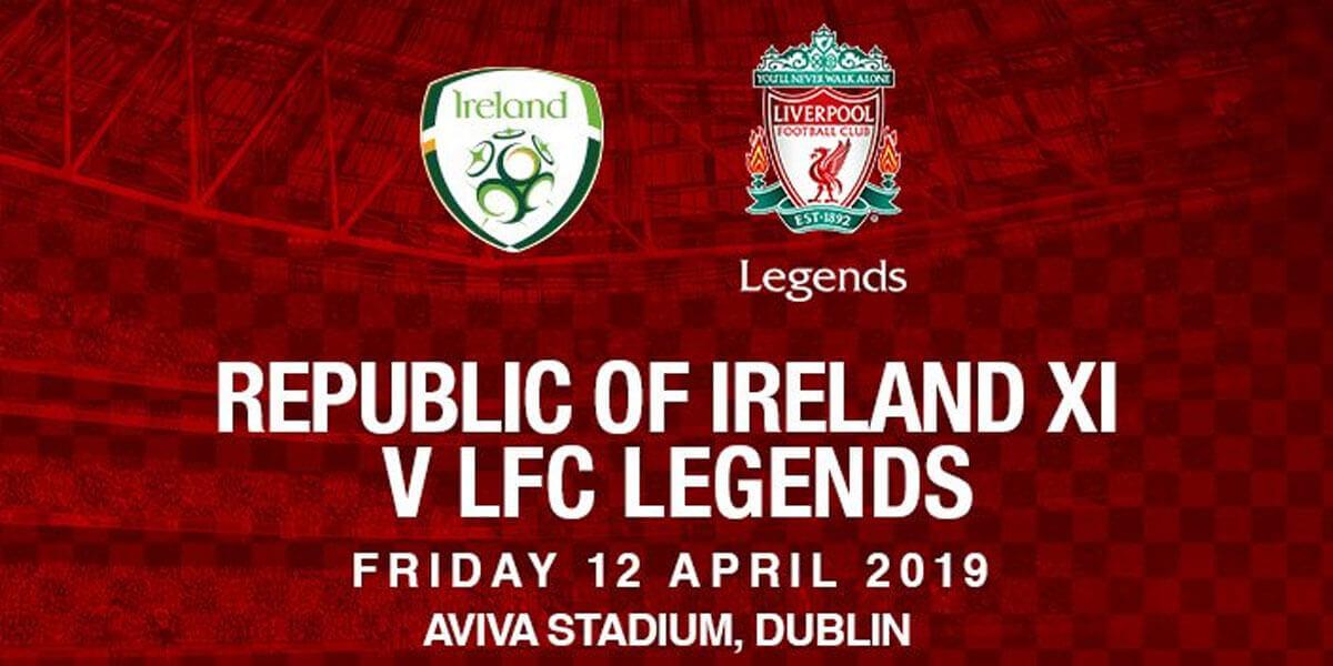 Rep. of Ireland Legends vs Liverpool Legends – Sean Cox Fundraiser