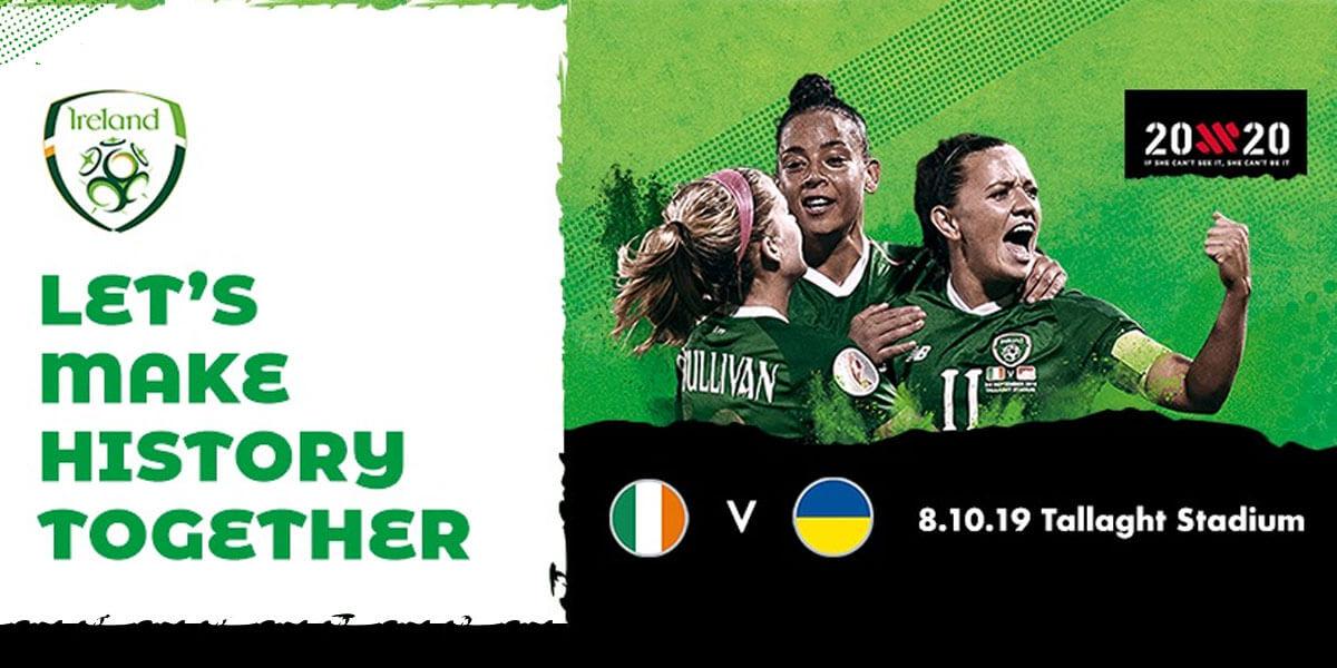 UEFA Women's Euro 2021 Qualifier: Rep. of Ireland vs Ukraine