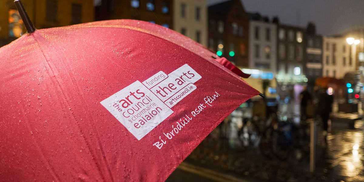 Where the Arts are now. Image: The Arts Council Umbrella.