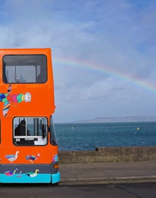 Where the Arts are now. Image: Bus Exterior Rainbow March 2017 Alight, Dublin's Culture Connects The National Neighbourhood, by Vanessa Daws.